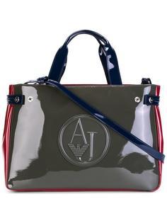 большая сумка-тоут с тисненым логотипом Armani Jeans