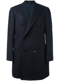 двубортное пальто Corneliani