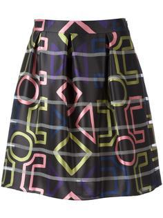 плиссированная юбка с геометрическим принтом Emporio Armani