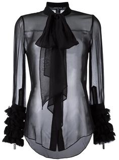 прозрачная рубашка с завязками Thomas Wylde