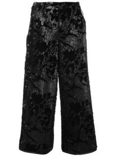 широкие брюки с пайетками Giorgio Armani