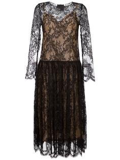 кружевное платье с длинными рукавами Erika Cavallini