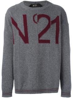 джемпер с принтом-интарсией логотипа Nº21