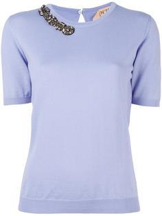 блузка с отделкой кристаллами Nº21