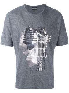 футболка с абстрактным принтом Emporio Armani