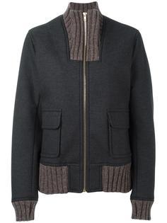 куртка на молнии с деталями в рубчик Kolor