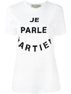 'Je Parle' T-shirt Être Cécile
