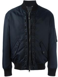 куртка-бомбер с молниями на рукавах Diesel Black Gold