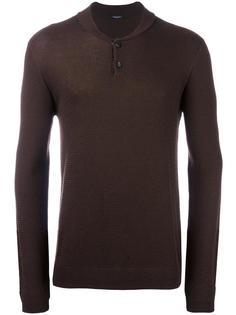фактурный пуловер с застежкой на пуговицы Roberto Collina