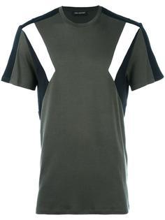 футболка с панельным дизайном Neil Barrett