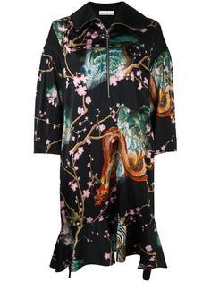 платье-кимоно с принтом драконов Paco Rabanne