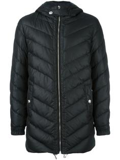 hooded quilted jacket Versus