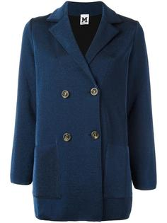 двубортное пальто с блестками M Missoni