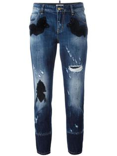 декорированные джинсы бойфренды Amen