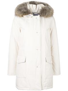пальто-пуховик на молнии с капюшоном Woolrich