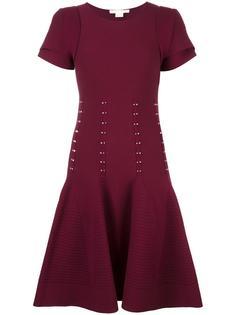 layered shortsleeved flared dress Antonio Berardi