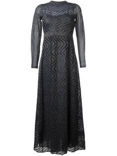 сетчатое расклешенное платье M Missoni
