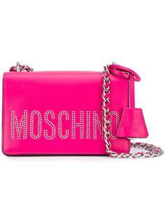 сумка на плечо с заклепками Moschino