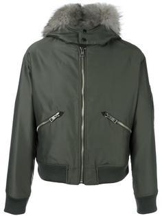 куртка бомбер с меховым воротником Just Cavalli