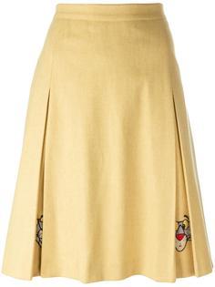 pink panther embroidered skirt Jc De Castelbajac Vintage