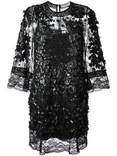 декорированное платье-шифт Amen