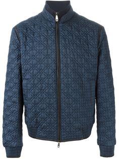 куртка-бомбер с стеганым эффектом Brioni