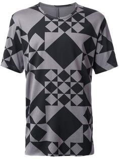 geometric print  T-shirt Kazuyuki Kumagai