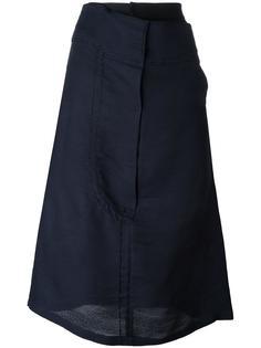 asymmetric detailing mid skirt Quetsche