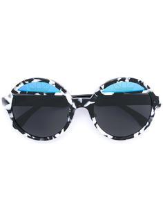 солнцезащитные очки  с круглой оправой Italia Independent
