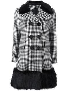 пальто в клетку с контрастной окантовкой Marc Jacobs