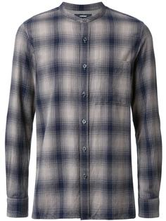 band collar plaid shirt Attachment