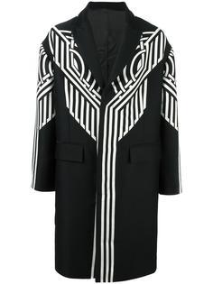 пальто с этническим узором Les Hommes