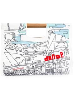 сумка-тоут с графическим принтом Kilometre