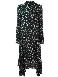 асимметричное платье с длинными рукавами Marni