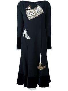 платье с аппликацией 'Wonderland' Dolce & Gabbana