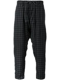 checked drop crotch trousers Kazuyuki Kumagai