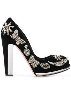 декорированные туфли на платформе  Alexander McQueen