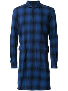 long plaid coat Attachment