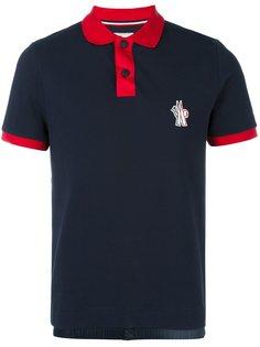 рубашка-поло с контрастным воротником Moncler Grenoble