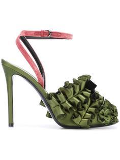 туфли с оборками и ремешком на щиколотке Marco De Vincenzo