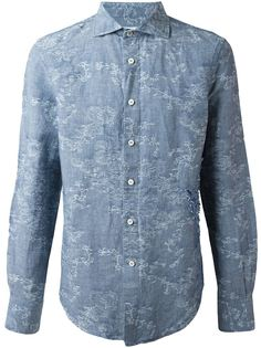 рубашка с жаккардовым узором Ermanno Scervino