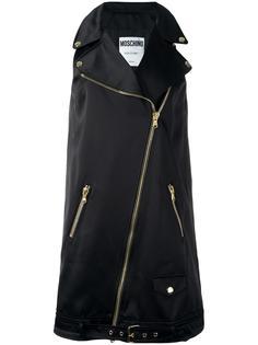 платье в форме байкерской куртки Moschino