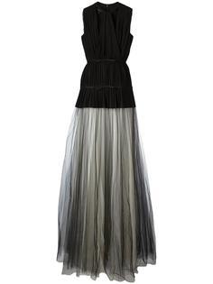 тюлевое плиссированное многослойное платье Giambattista Valli