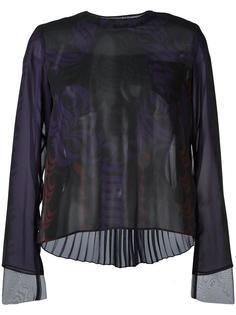 блузка с графическим принтом Sacai