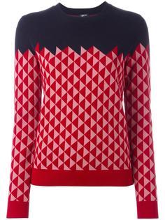 triangle pattern jumper Jil Sander Navy