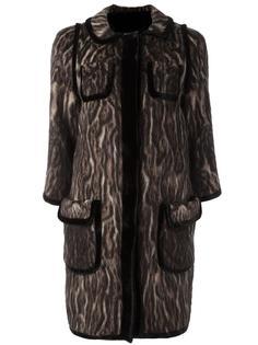 жаккардовое пальто  Maurizio Pecoraro