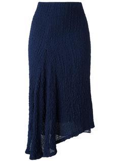 креповая юбка с асимметричным подолом Victoria Beckham