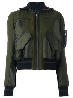 куртка-бомбер с контрастными панелями Haider Ackermann