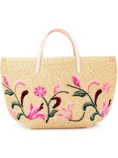 сумка-тоут с цветочной аппликацией  Ermanno Scervino