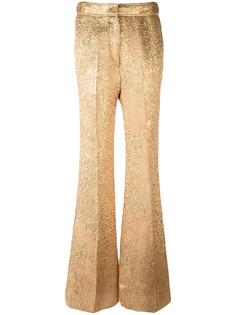 расклешенные жаккардовые брюки Rochas